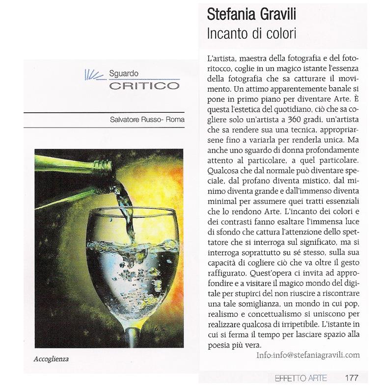 """Pubblicato sulla rivista d'Arte """"Effetto Arte"""" di nov/dic 2011"""