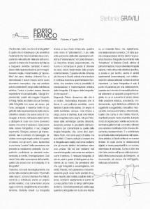"""Testo critico tratto dal libro d'Arte  """"Porto Franco""""di Vittorio Sgarbi"""